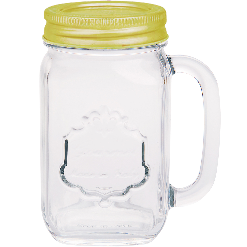 《EXCELSA》單柄梅森玻璃杯(金480ml)