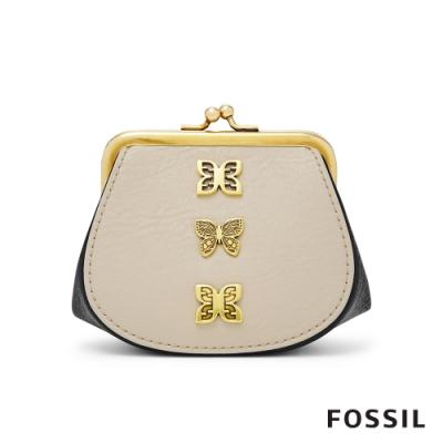 FOSSIL 蝶舞巧緻雙色零錢包 SLG1294767