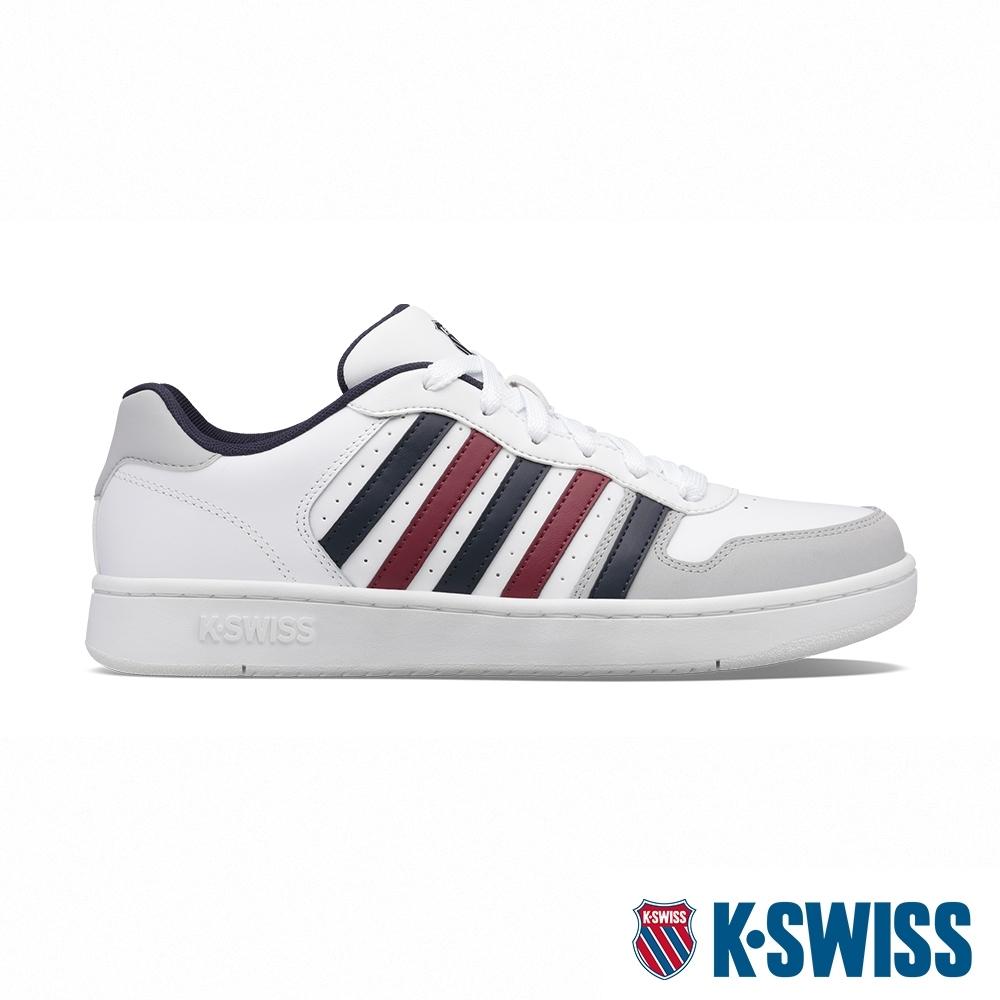 K-SWISS Court Palisades 時尚運動鞋-男-白/藍/紅