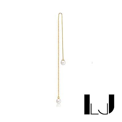 Little Joys 旅美原創設計品牌 單邊手工流線雙母貝珍珠耳環 925銀鍍金