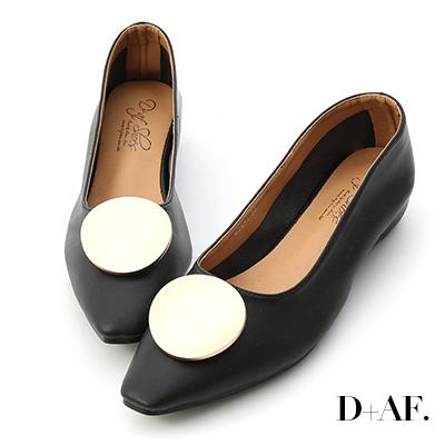 D+AF 百變巧思.可換釦設計內增高包鞋*黑