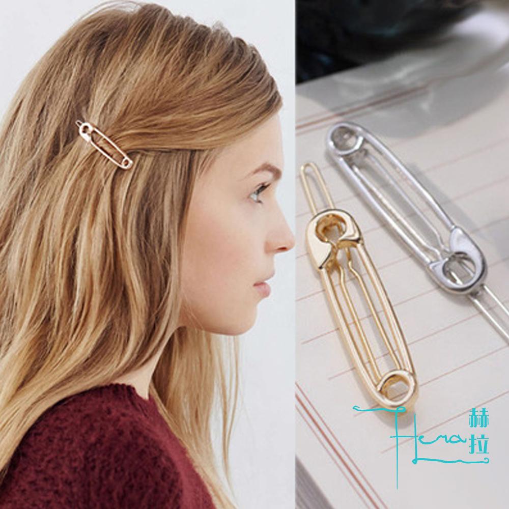 Hera赫拉 日韓頭飾一字夾 迴紋針造型邊夾