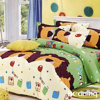 BEDDING-活性印染單人鋪棉床包兩用被套三件組-童話王國