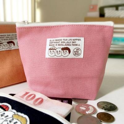 oh lolly day 橘子三兄弟三角化妝包-草莓粉