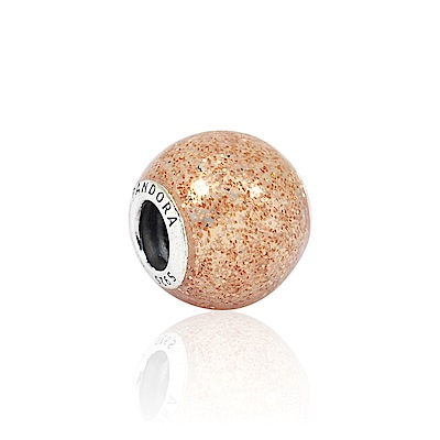 Pandora 潘朵拉 魅力玫瑰金光點琺瑯 純銀墜飾 串珠