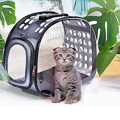 媽媽咪呀 七星級太空艙透明寵物包(時尚雲朵灰)