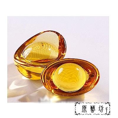 原藝坊 成對黃水晶招財開運元寶(約5X3X2.5公分)