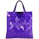 ISSEY MIYAKE 三宅一生BAOBAO 亮面三角方格6x6手提包(紫藍色) product thumbnail 1