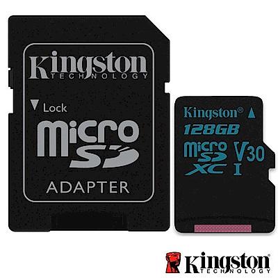 Kingston 金士頓 128G U3 microSDXC V30 記憶卡 SDCG2