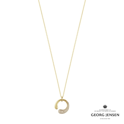Georg Jensen 喬治傑生 MERCY 18K金鑽石項鍊,小