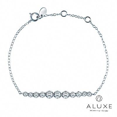 A-LUXE 亞立詩 18K金 0.57克拉鑽石手鍊