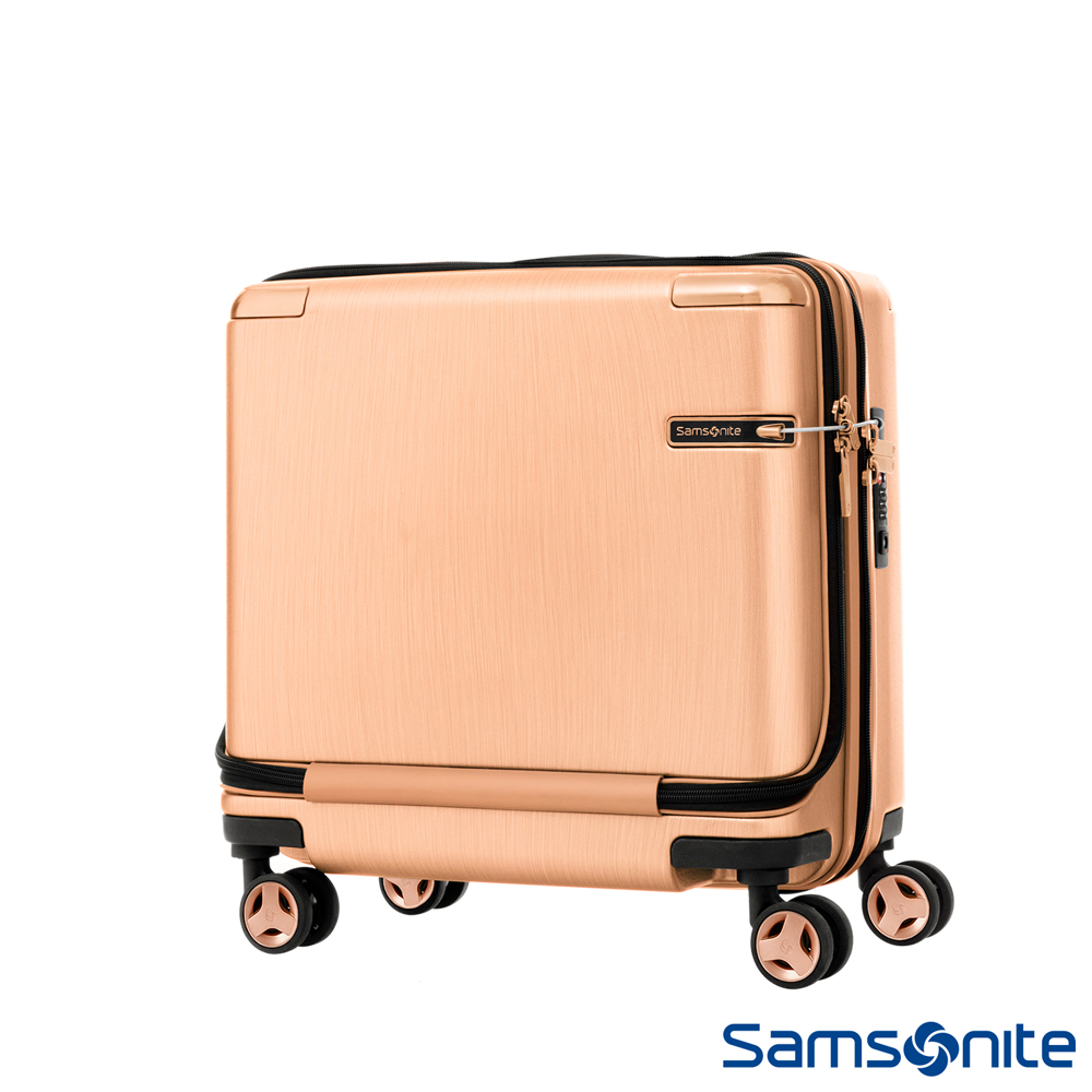 Samsonite新秀麗 Evoa商務機長登機箱(玫瑰金)