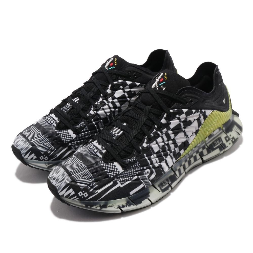 Reebok 慢跑鞋 Zig Kinetica 運動 男鞋 海外限定 輕量 透氣 舒適 避震 路跑 黑 白 FW9463