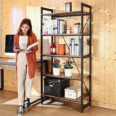BuyJM 集成木紋防潑水耐重五層置物架/書架82x40x177cm-DIY