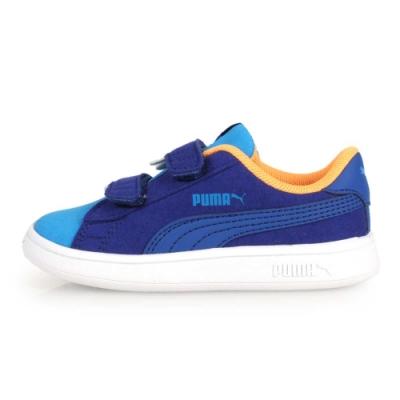 PUMA SMASH V2 MONSTER 男童怪獸休閒鞋 藍白橘