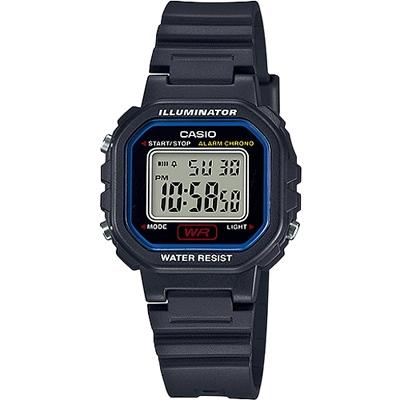 CASIO 復古風的方形電子錶款-黑(LA-20WH-1C)/30mm