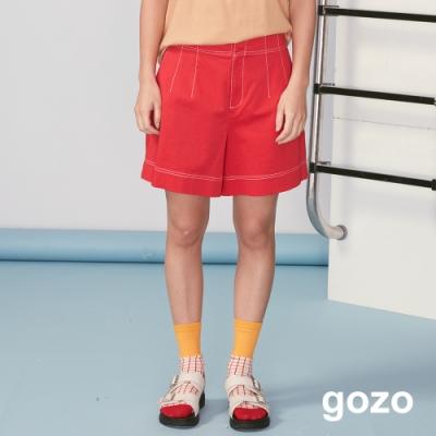 gozo 質感壓線後鬆緊短褲(二色)