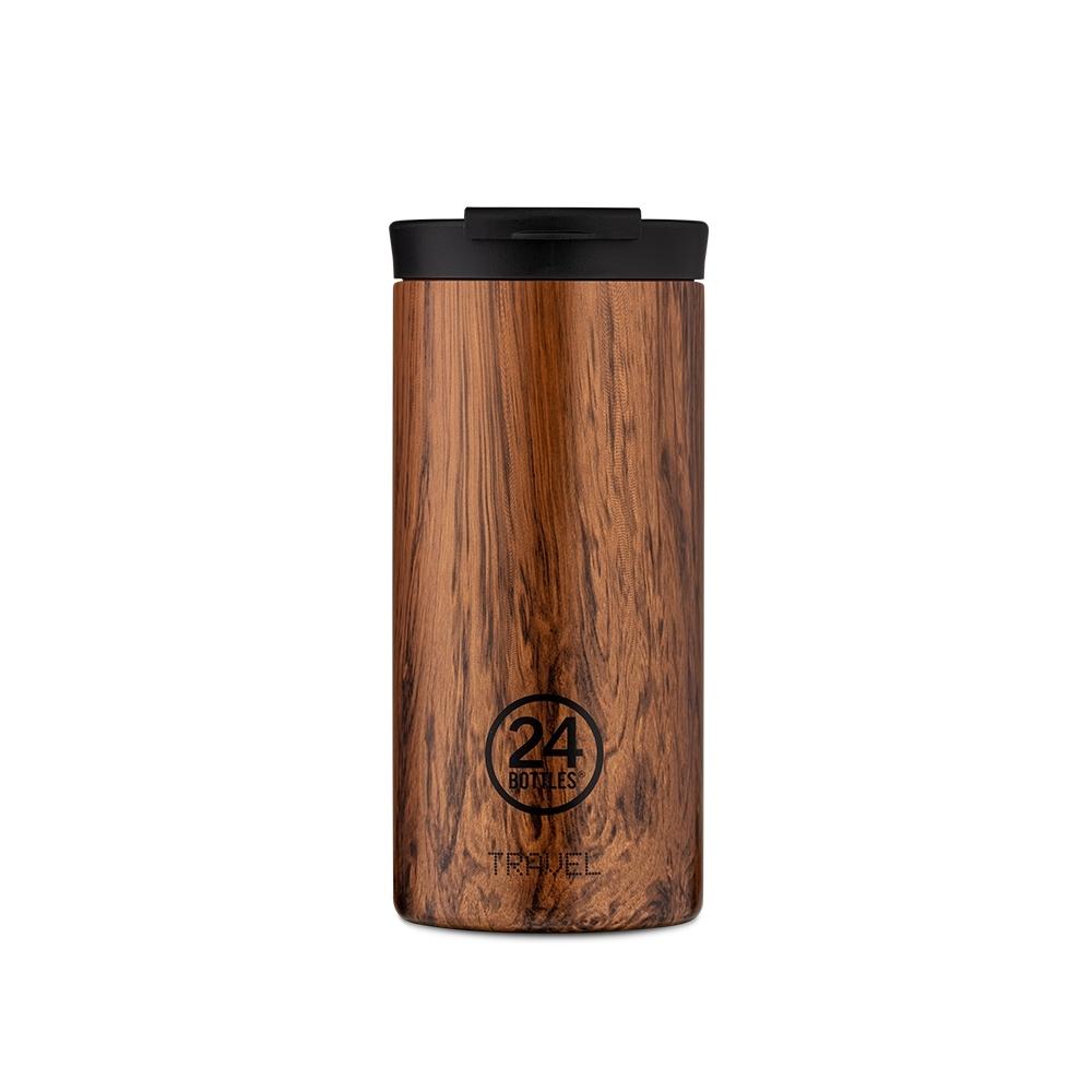 義大利 24Bottles 保溫隨行杯 600ml - 紅杉木紋