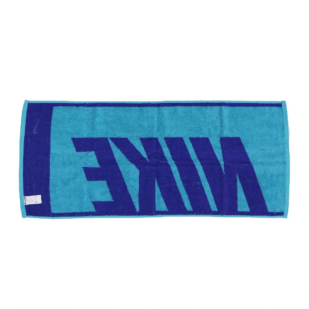 Nike 毛巾 Jacquad Towel 男女款 大LOGO 運動 健身 路跑 藍 N1001539438MD