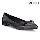 ECCO SHAPE 平底尖頭設計款芭蕾舞鞋 女-黑