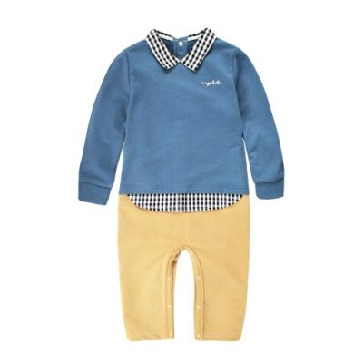 baby童衣 假三件英倫風紳士男寶寶長袖連身衣 61099