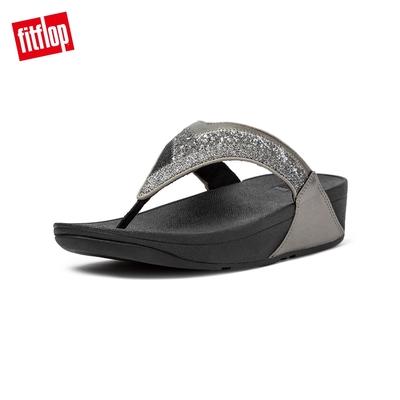 FitFlop LULU OMBRE GLITTER TOE-POST SANDALS 經典夾腳涼鞋-女(錫灰色)