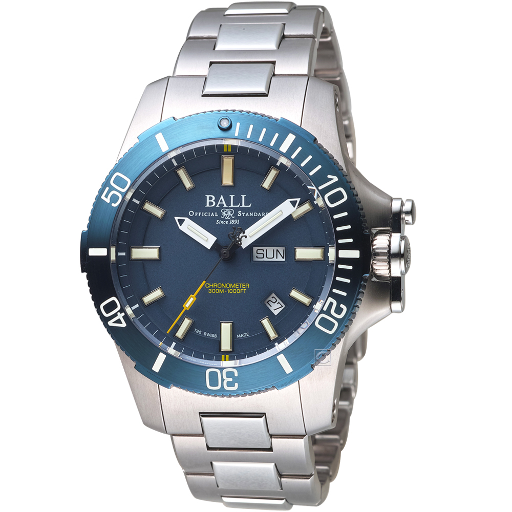 Ball波爾工程師碳氫系列Submarine Warfare機械錶(藍)