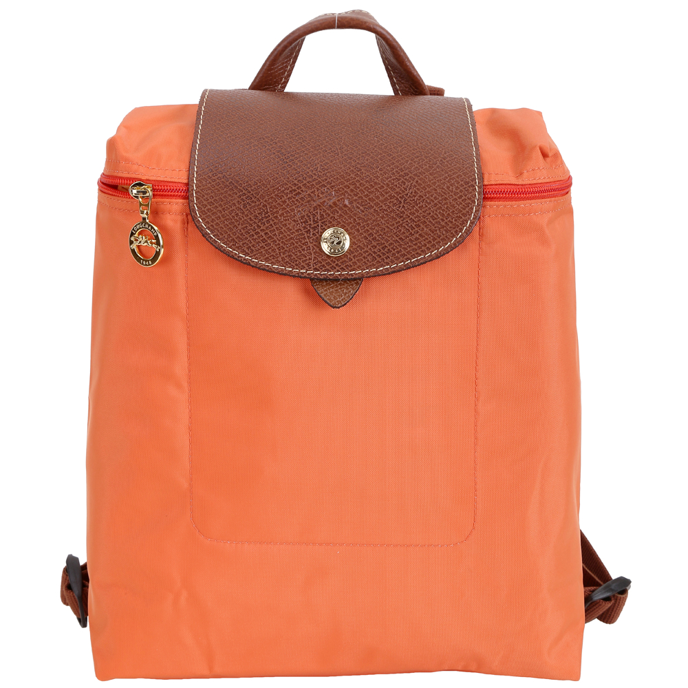 LONGCHAMP Le pliage 尼龍折疊後背包(赤橙色) @ Y!購物