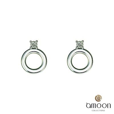 amoon  K金真鑽系列 圓舞曲 K金鑽石耳環
