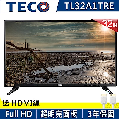 TECO東元 32吋 FHD IPS低藍光液晶顯示器+視訊盒 TL32A1TRE