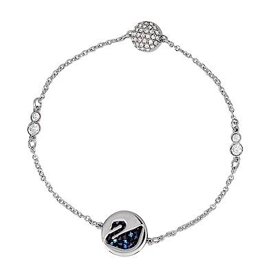 SWAROVSKI施華洛世奇REMIX天鵝藍色水晶銀色磁扣式手鍊手環