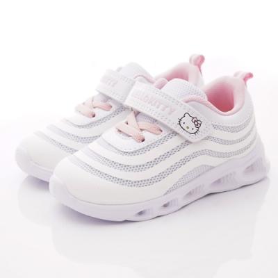 HelloKitty童鞋 炫亮電燈運動鞋款 SE19863白(中小童段)