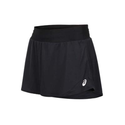 ASICS 女 網球短裙 黑白