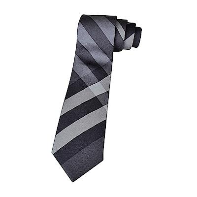 BURBERRY經典蠶絲緹花格紋設計領帶(炭灰)