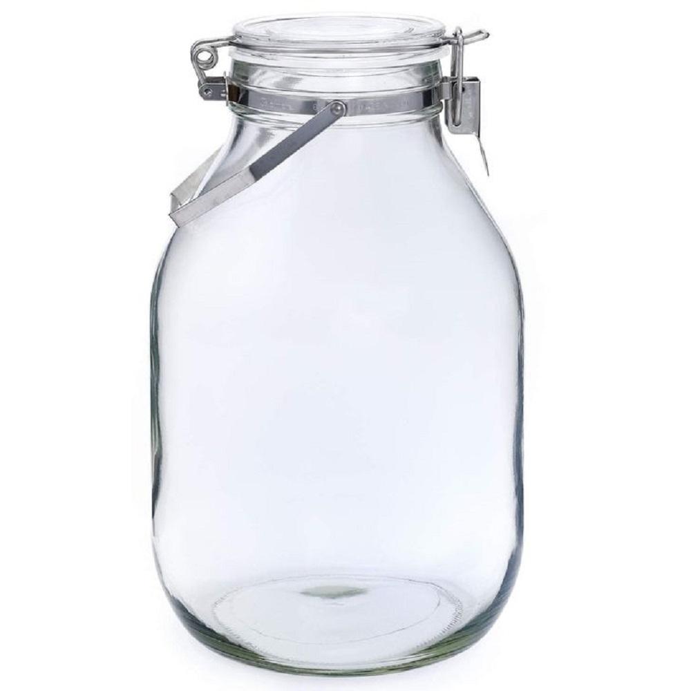 日本 星硝Cellarmate不鏽鋼把手式玻璃密封瓶4L