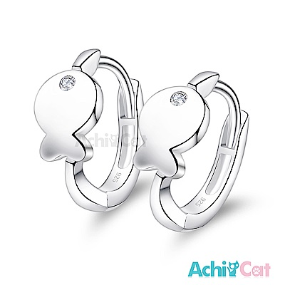 AchiCat 925純銀耳環 海底小魚 純銀易扣耳環