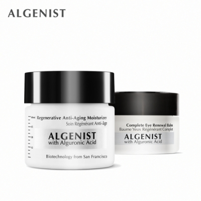 Algenist 天后御用保養組-新生煥顏活力活膚霜 60ml+新生煥顏活力眼霜 15ml