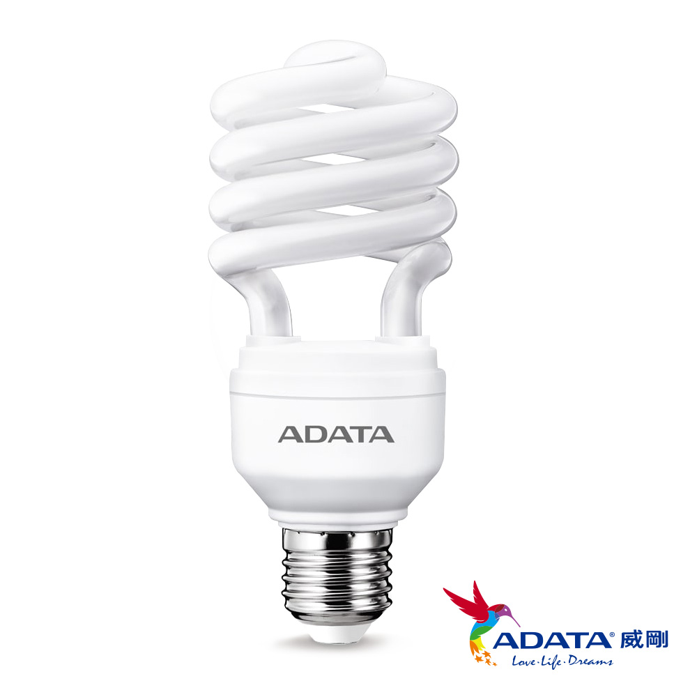 ADATA威剛 23W螺旋節能省電燈泡6入組(白/黃光)