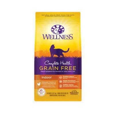 WELLNESS寵物健康-GRAIN FREE全方位無穀系列-室內貓無穀去骨雞 2.25LBS兩包組