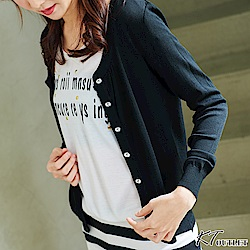 KT 冰絲薄款空調針織小外套-黑色