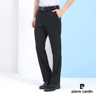 Pierre Cardin皮爾卡登 男裝 素色平口西裝褲-黑色 (5217846-99)