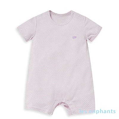 les enphants 冰牛奶幾何錢紋短袖連身裝 (5色可選)
