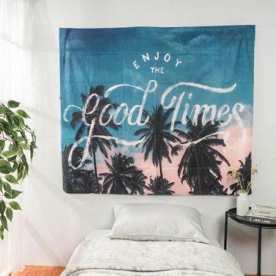 樂嫚妮 裝飾掛毯/掛布/門簾/桌巾-椰樹 150X130cm
