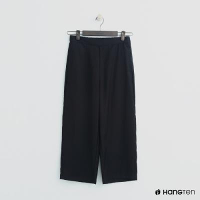 Hang Ten - 女裝 -素面後鬆緊寬褲 - 黑