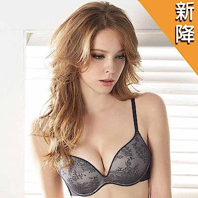 華歌爾-日本進口無鋼圈Wire Free Bra減壓B-D罩杯內衣(時尚黑)