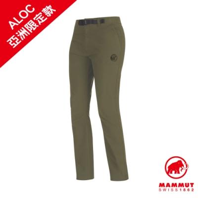 【Mammut 長毛象】Convey Pants Women 彈性防潑水長褲 綠鬣蜥 女款 #1022-00381