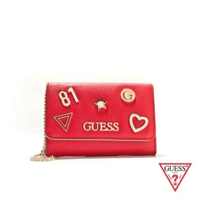 GUESS-女夾-逗趣時尚造型卡夾-紅