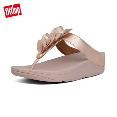 FitFlop FINO LEAF TOE-THONGS 葉片造型夾腳涼鞋-女(玫瑰金)