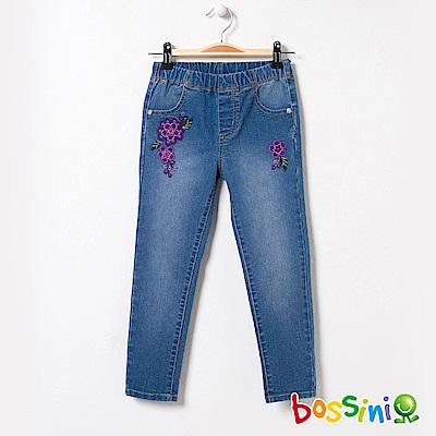 bossini女童-輕鬆牛仔窄管長褲02靛藍