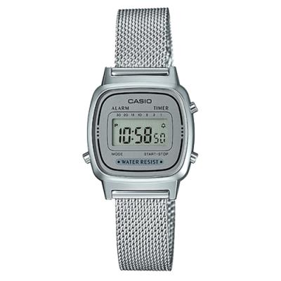 時時樂限定-CASIO 復古時尚簡約巧小指針米蘭/不銹鋼腕錶(三款任選)